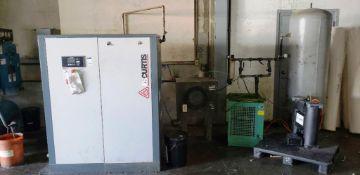 FS Curtis 40 HP Rotary Screw Air Compressor Model P/N FNB30
