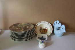 A Collection Of 12 Wedgwood Fireside Tales, Royal Doulton Bunnykins Cereal Bowl , Royal Copenhagen P