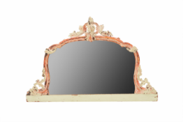 AN ANTIQUE PAINTED FRENCH MIRROR