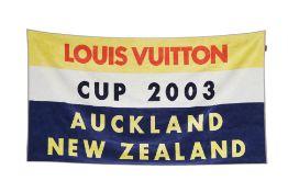 A LOUIS VUITTON BATH TOWEL