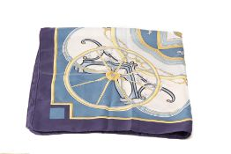 A HERMÈS 'WASHINGTON'S CARRIAGE' SILK SCARF