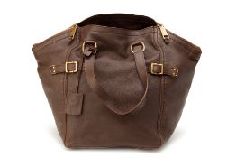 A YSL BROWN LEATHER BAG