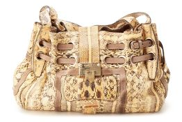 A JIMMY CHOO SNAKE SKIN BAG