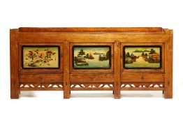 A LARGE CHINESE PAINTED SIDEBOARD
