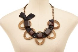 A MARNI BRONZE & GEM NECKLACE