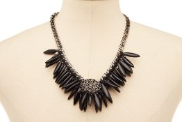A RADÀ BLACK BEADED NECKLACE