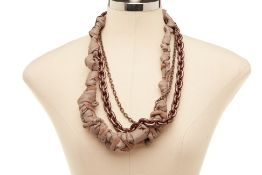 A BRONZE CHAIN & KNOT NECKLACE