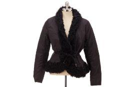 A MONCLEIR BLACK WINTER COAT