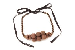 A MARNI BROWN GRAPE NECKLACE