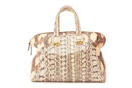 A FENDI PYTHON BOWLING BAG