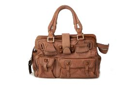 A CHLOE 'ELEPHANT' BROWN LEATHER BAG