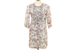 A MONISHA JAISING WHITE & BROWN KURTA TOP