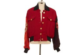 AN AEFFE S.P.A MOSCHINO EMBELLISHED BOMBER JACKET