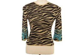 A GIANNI VERSACE TIGER PRINT WOOL SWEATER