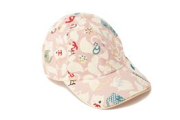 A CHANEL PINK CANVAS BASEBALL CAP