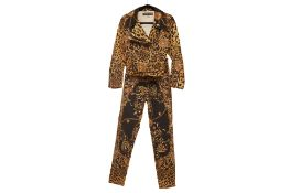 A ROBERTO CAVALLI BAROQUE AND LEOPARD PRINT ENSEMBLE