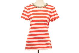 A JUICY COUTURE STRIPED T-SHIRT