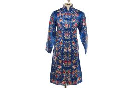 A GOLDEN DRAGON BLUE FORAL EMBROIDERED JACKET