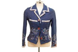 A VOYAGE LADIES EMBELLISHED DENIM JACKET
