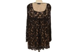 A TOM FORD FOR GUCCI BLACK LACE BABYDOLL DRESS