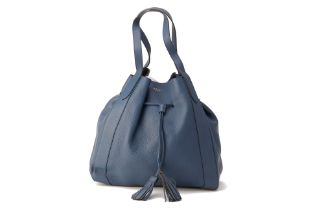 A MULBERRY BLUE MILLIE LEATHER TOTE BAG
