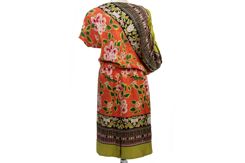 A JOSIE NATORI MULTICOLOURED ASYMMETRY DRESS - Image 2 of 3