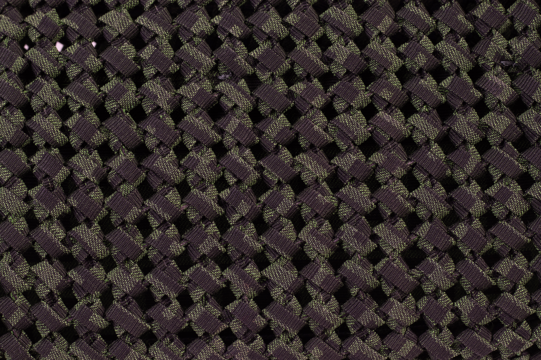 A FENDI GREEN BAGUETTE JACQUARD FABRIC INTERLACE PURSE - Image 3 of 3