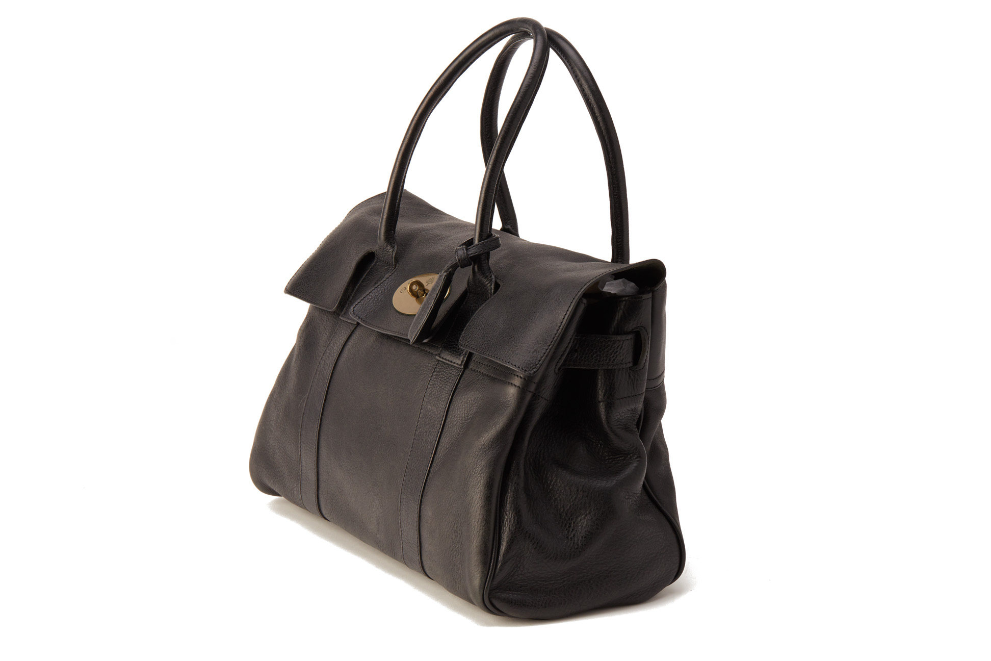 A MULBERRY BLACK BAYSWATER LEATHER TOTE BAG - Image 3 of 4