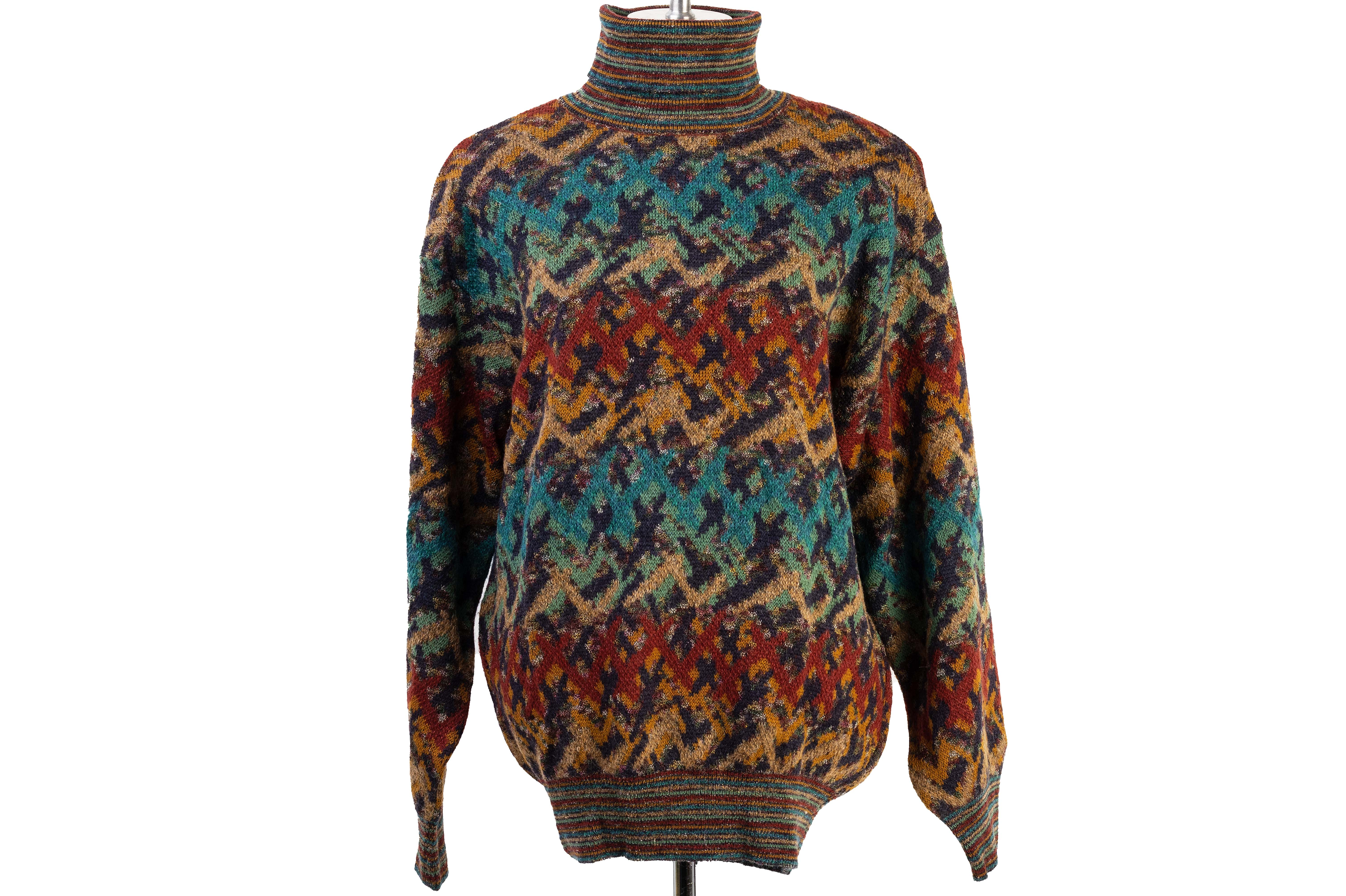 A MISSONI SPORT KNITTED ROLLNECK SWEATER