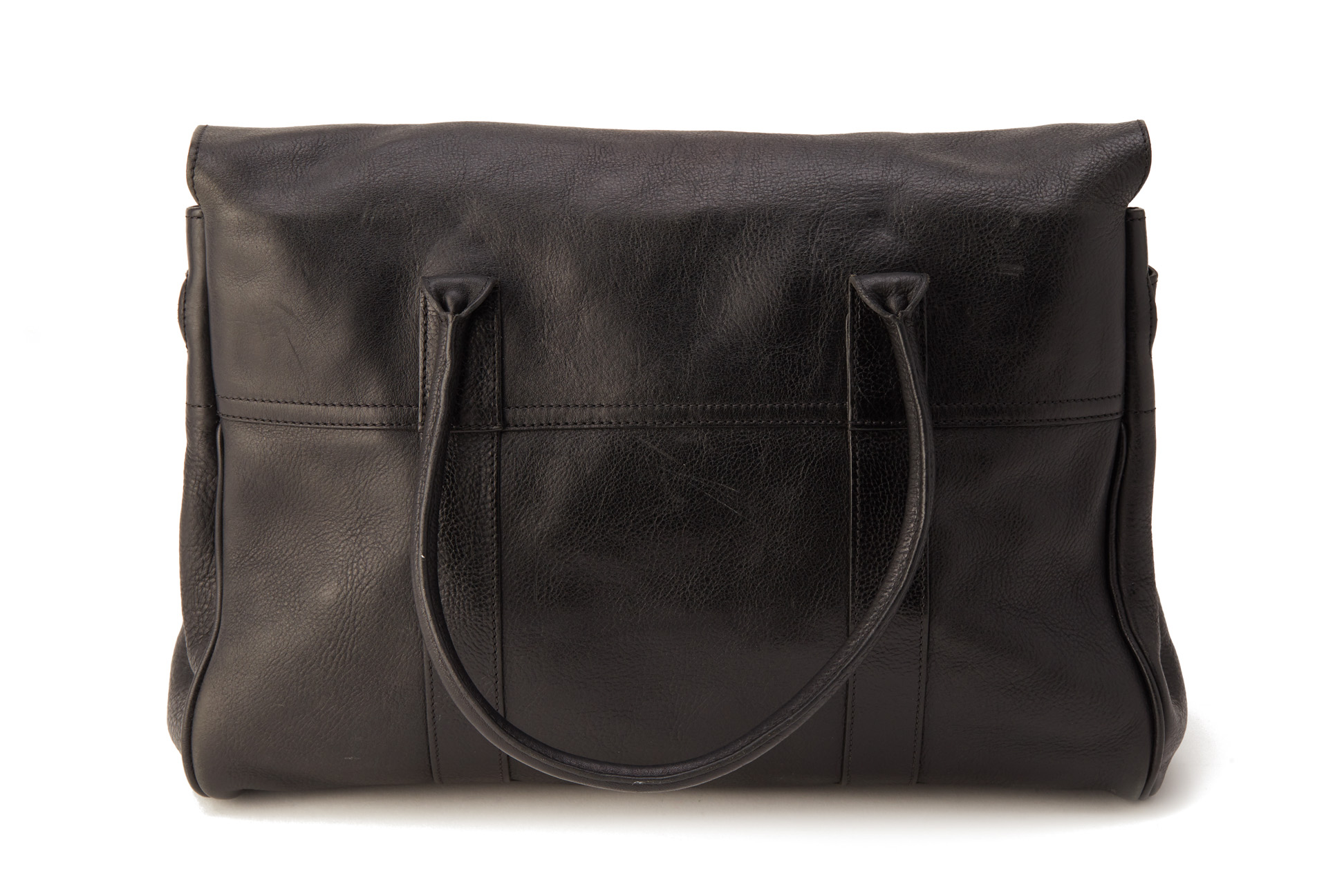 A MULBERRY BLACK BAYSWATER LEATHER TOTE BAG - Image 4 of 4