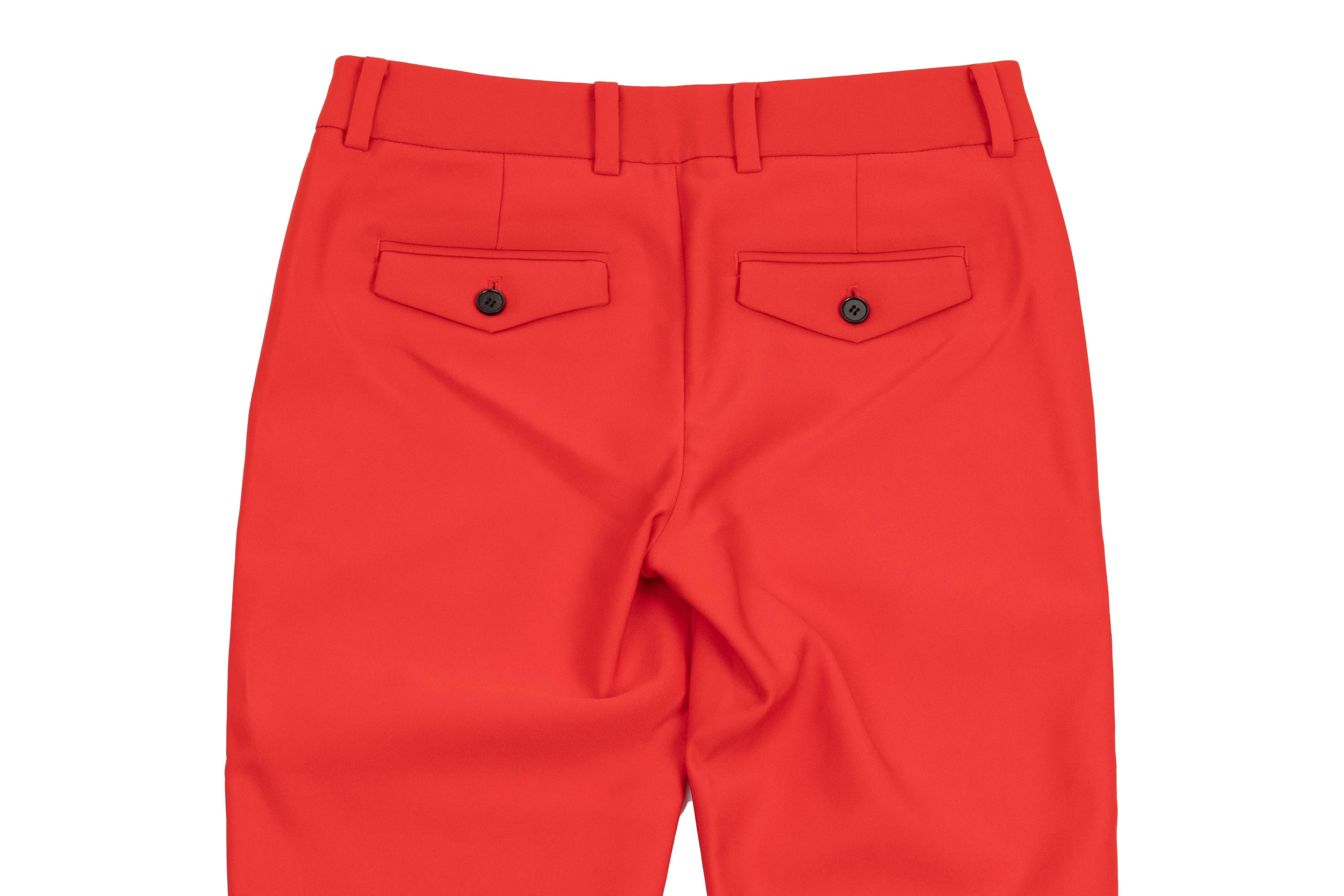 A PAIR OF CALVIN KLEIN RED TROUSERS - Image 2 of 3