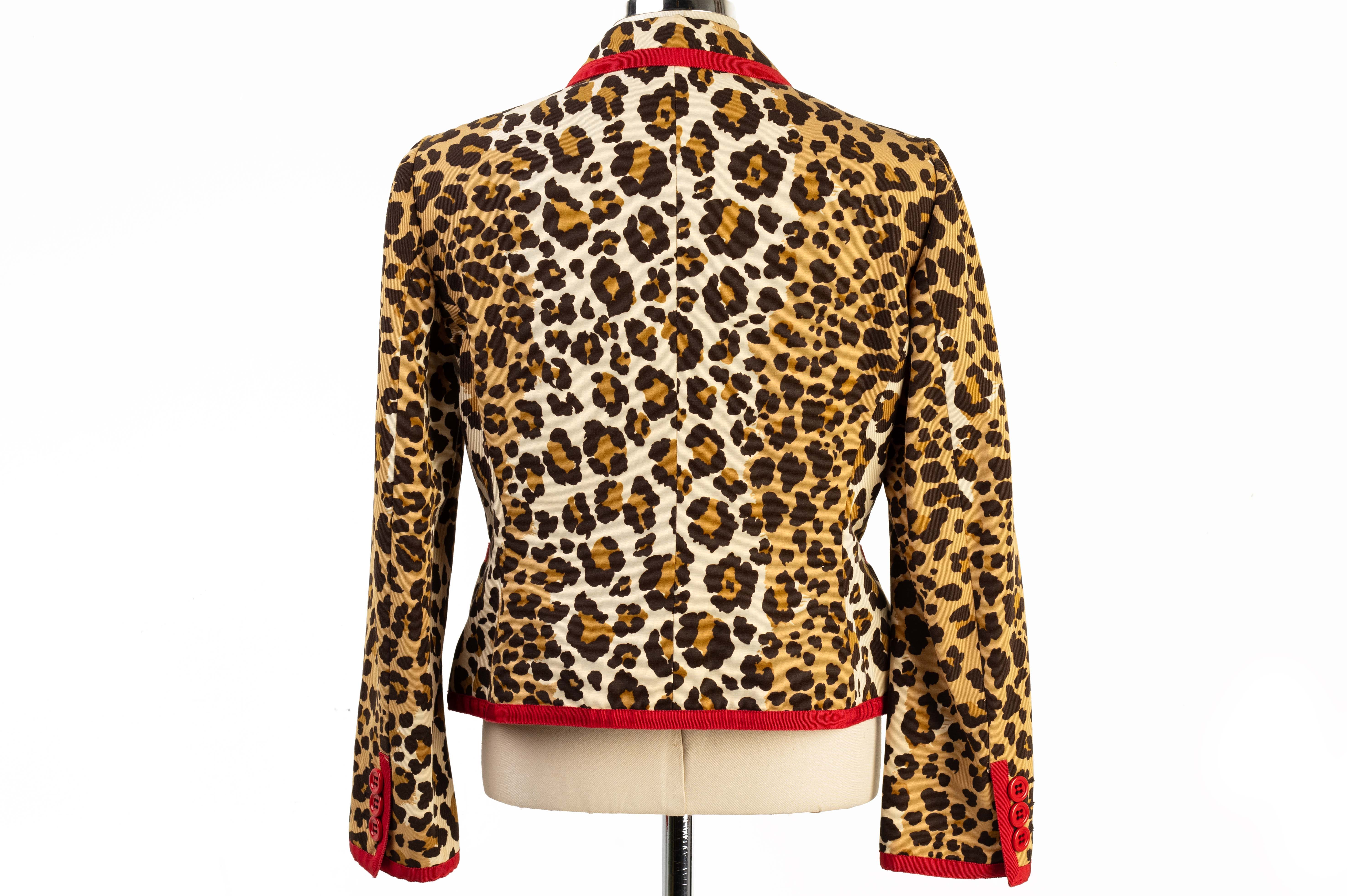 A MOSCHINO 'CHEAP & CHIC' LEOPARD PRINT JACKET - Image 3 of 3