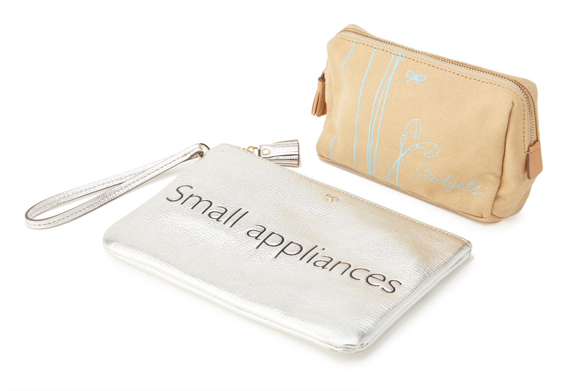 TWO ANYA HINDMARCH POUCHES