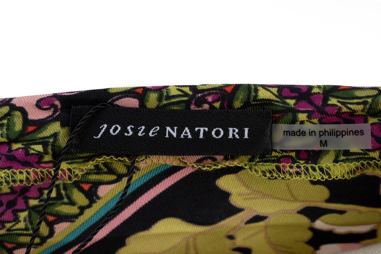 A JOSIE NATORI MULTICOLOURED ASYMMETRY DRESS - Image 3 of 3