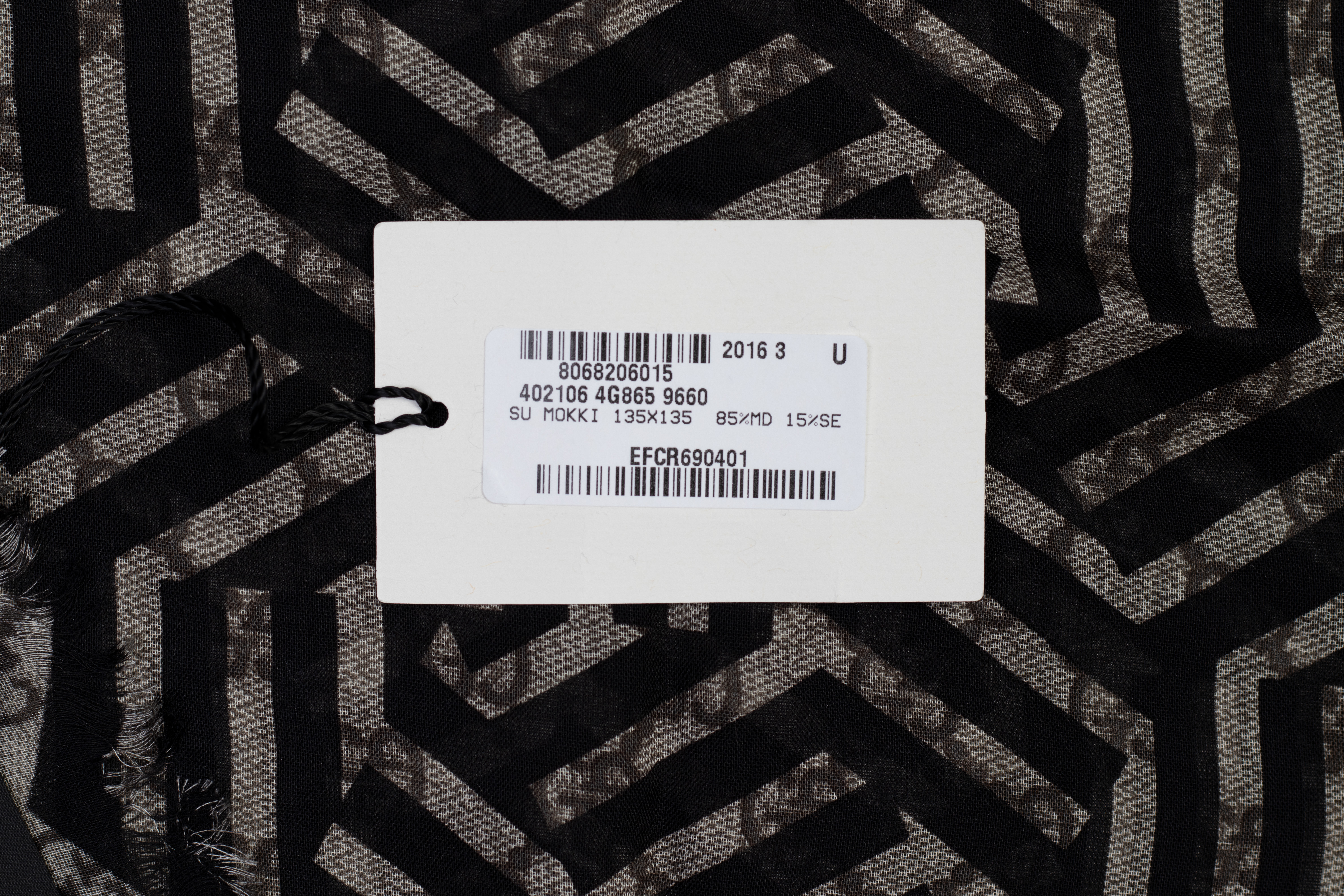 A GUCCI MONOGRAM SCARF - Image 6 of 6