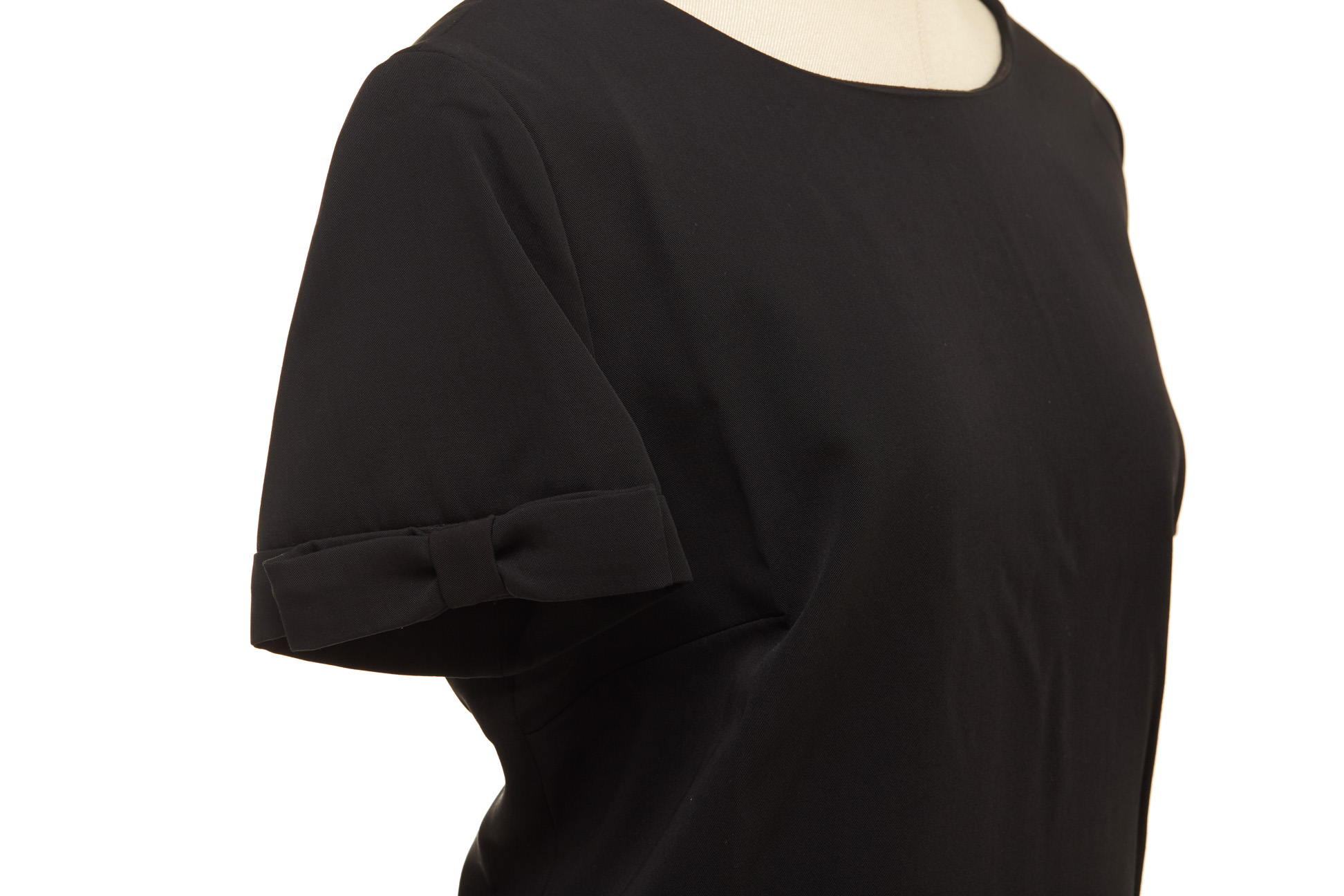 A MOSCHINO BLACK WOOL SHIFT DRESS - Image 2 of 2