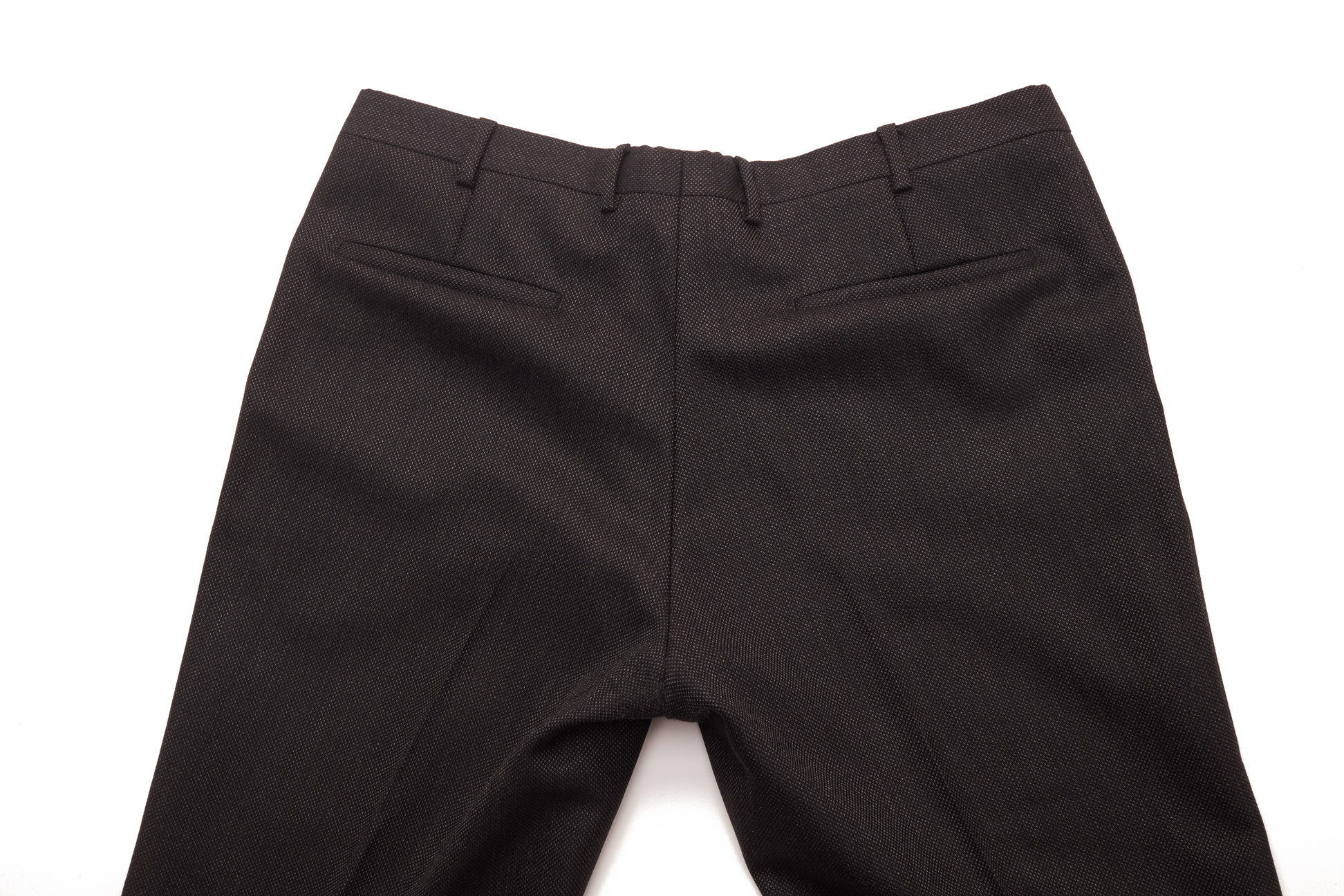 A PAIR OF MULBERRY DARK GREY TROUSERS - Image 2 of 2