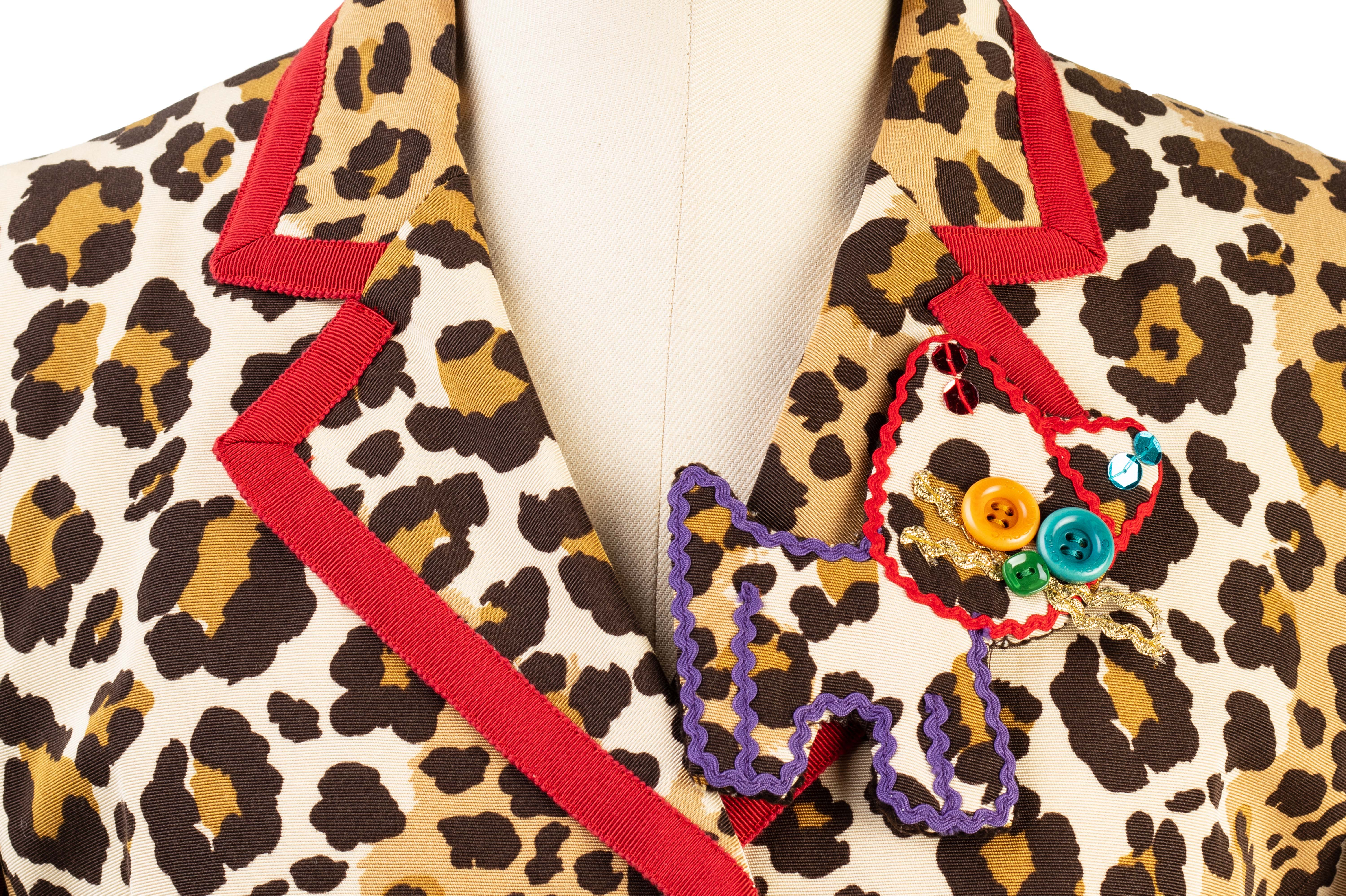 A MOSCHINO 'CHEAP & CHIC' LEOPARD PRINT JACKET - Image 2 of 3