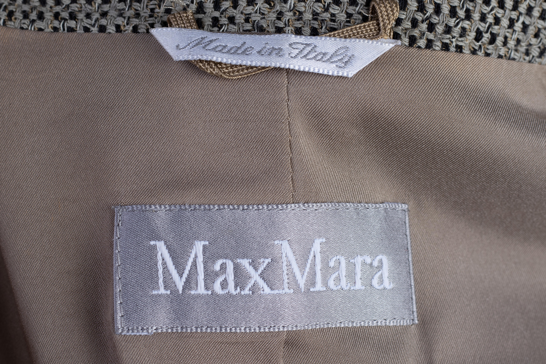 A MAX MARA GREY & BLACK TWEED BLAZER - Image 3 of 3