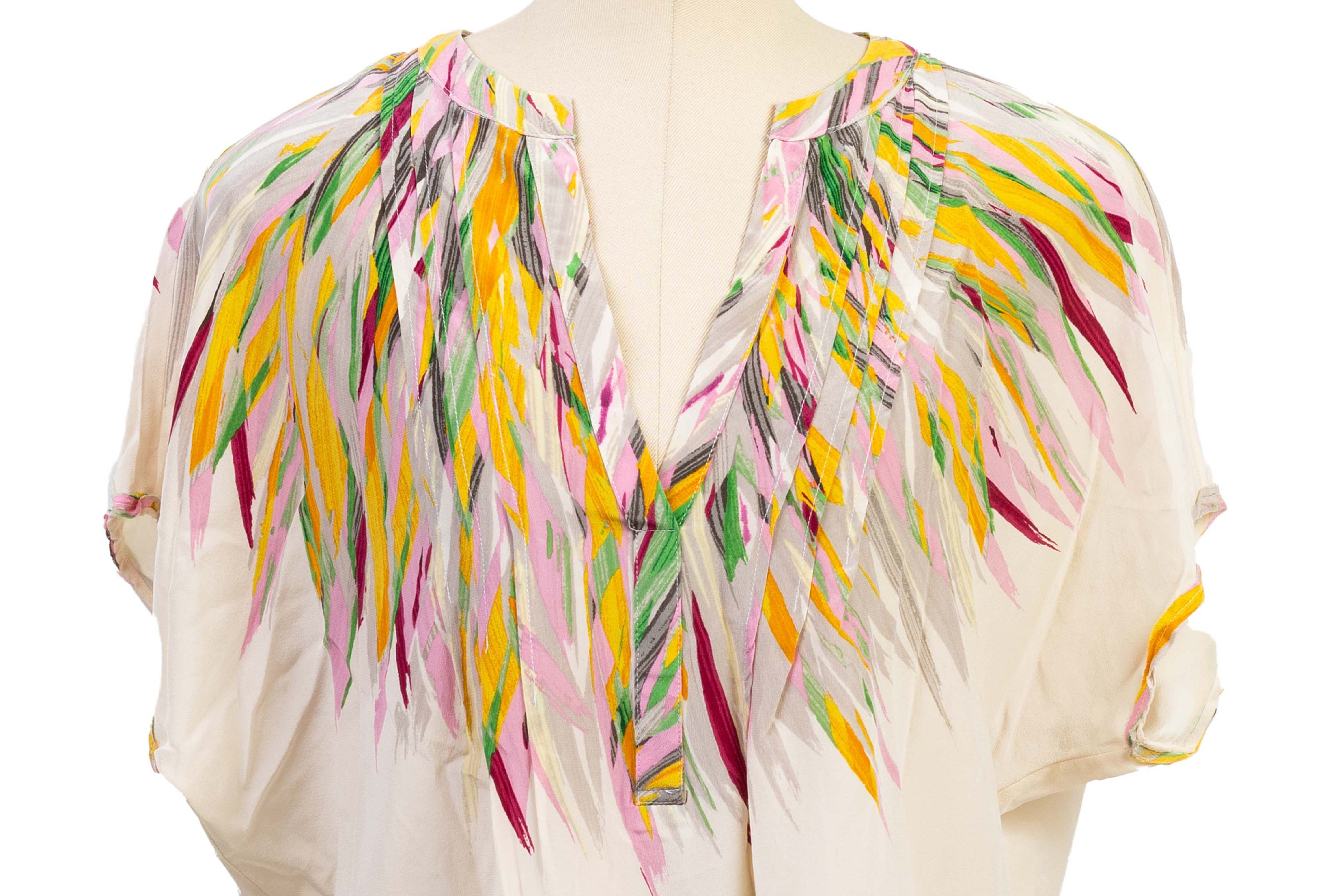 TWO MULTICOLOURED DEEP V BLOUSE - Image 2 of 5