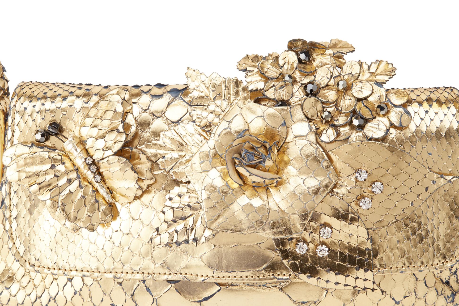 AN ANA METALLIC SNAKESKIN EMBELLISHED SHOULDER BAG - Image 2 of 4