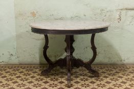 A MARBLE TOPPED KOPITIAM TABLE (2)