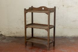 A THREE TIER ETAGERE