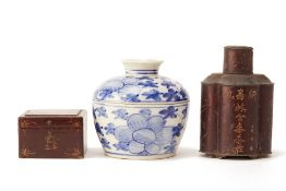 A GROUP OF THREE ORIENTAL ITEMS