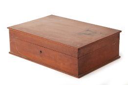 A LARGE RECTANGULAR WOOD BOX