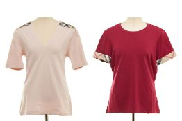 TWO BURBERRY T-SHIRTS