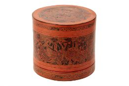 A VINTAGE BURMESE BETEL NUT CONTAINER, OR KUN-YIT