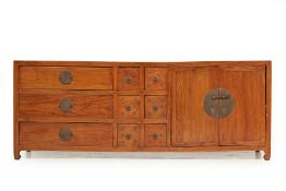 A CHINESE LOW SIDEBOARD / MEDIA CONSOLE