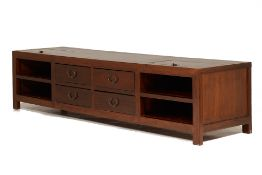 A LONG ELM LOW SIDEBOARD / CONSOLE