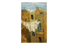 UNATTRIBUTED (CONTEMPORARY) - HANGING THE WASHING